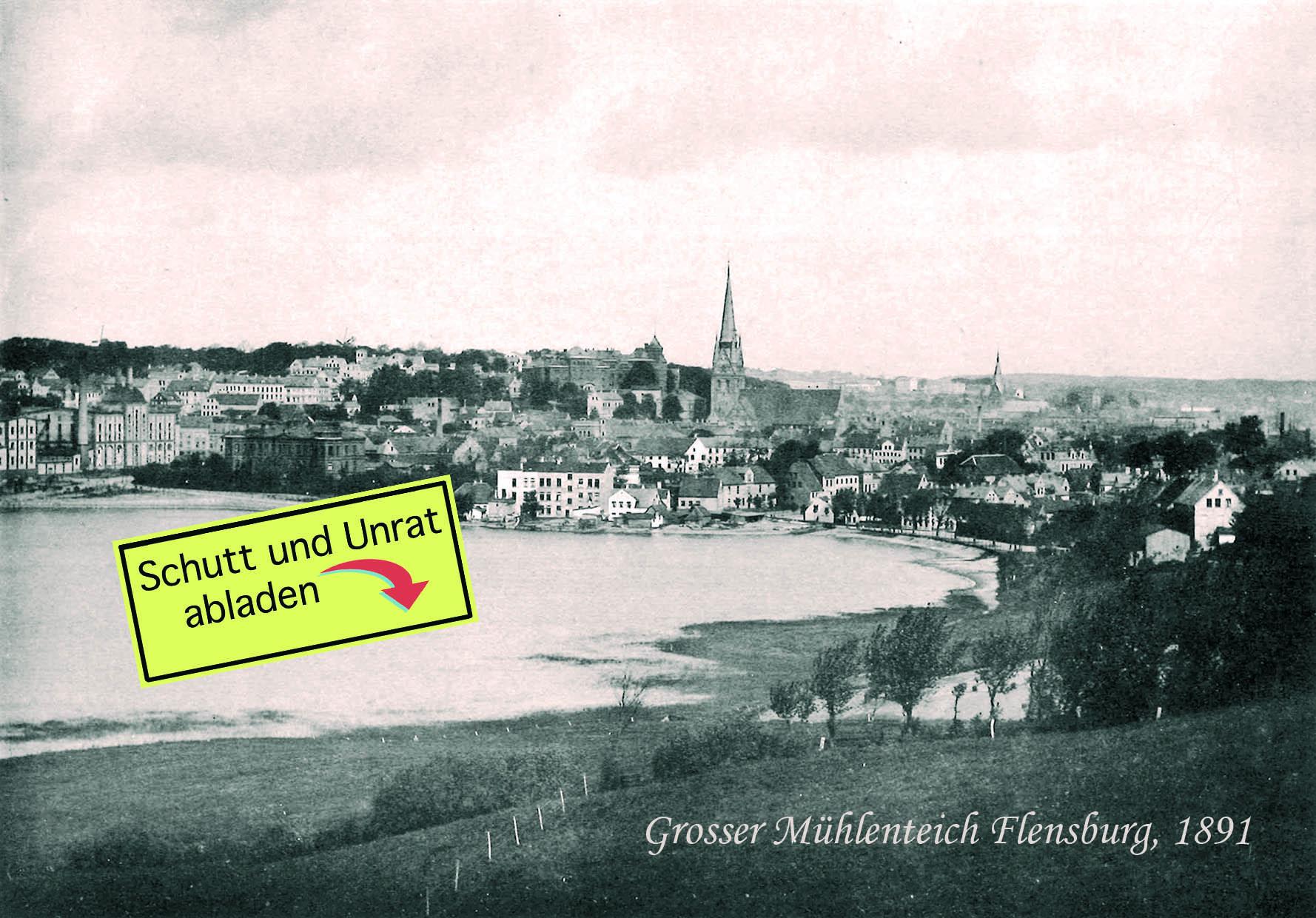 Postkarte_Mühlenteich_vorn+aufkleber